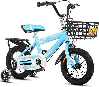"""Dsrgwe Bicicleta niño, Bicicletas niños, niños Formación de Bicicletas, en tamaño 12"""" 14"""" 16"""" 18"""" del niño Bici de la Vespa de 2-13 años de Edad con Asiento Ajustable Manillar: Amazon.es: Deportes y aire libre"""