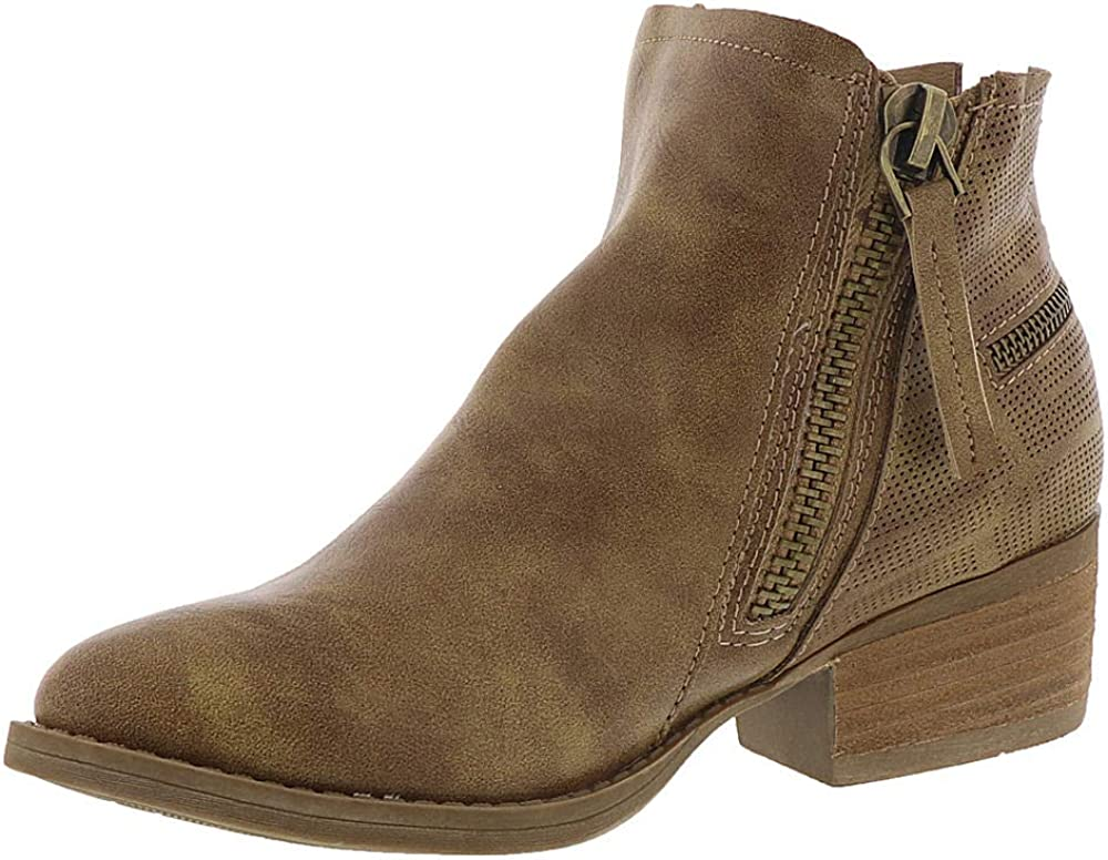 Very G Womens Betty Almond Toe Ankle Fashion Boots Size 6.0 Camel