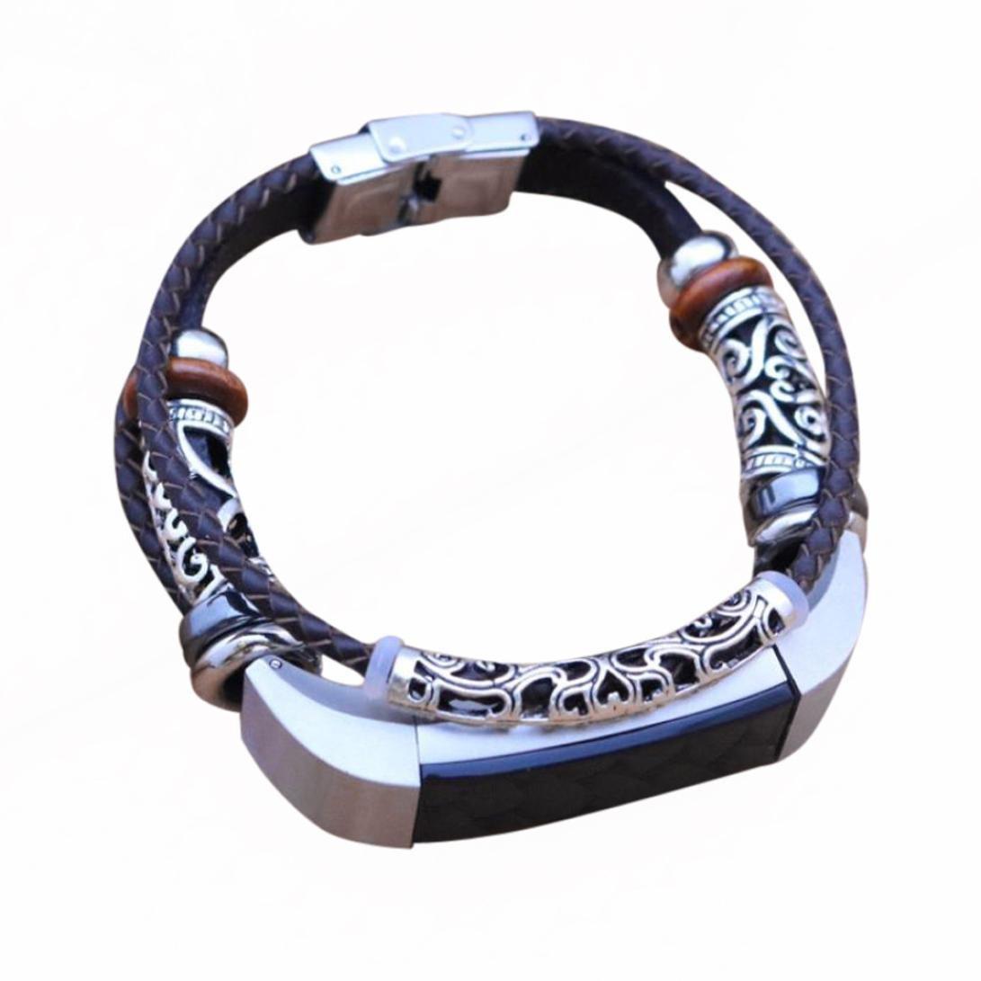 For Fitbit ALTA ブラックB/ Fitbit Fitbit B079MGFDZ8 ALTA HRリストバンド、sukeq 2018新しいファッション本革編組ブレスレット金属クラスプ付き交換ストラップバンドアクセサリー ブラックB B079MGFDZ8, カミフクオカシ:a6525b35 --- arvoreazul.com.br