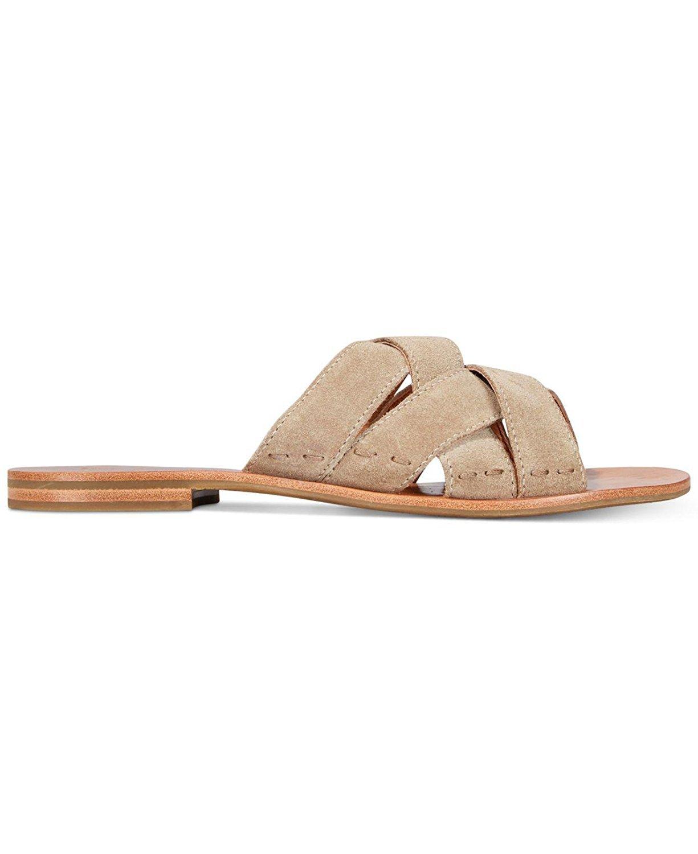 FRYE Womens Carla Criss Cross Open Toe Casual Slide Sandals, Ash, Size 6.5 by FRYE (Image #1)