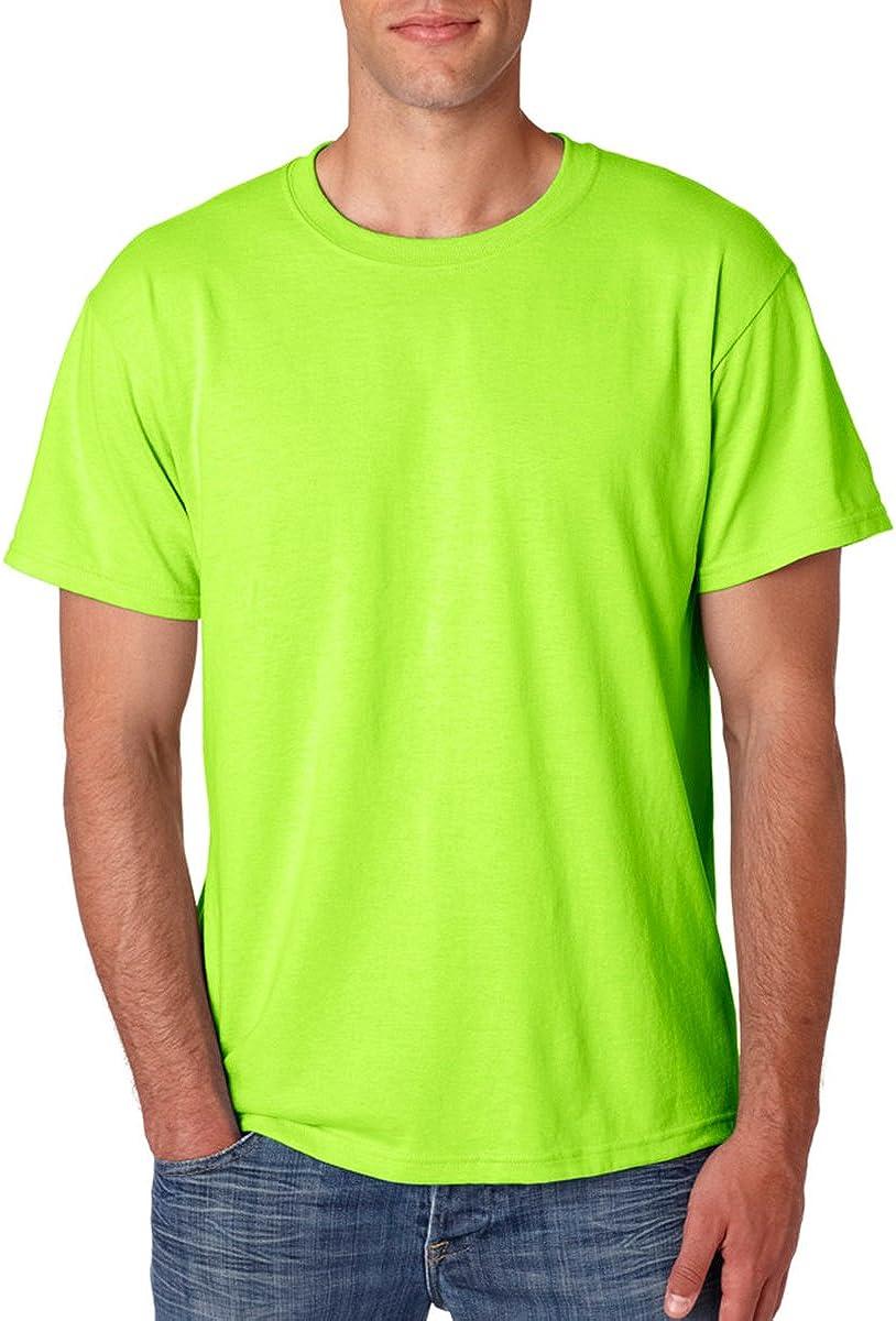 Jerzees 29TAdult Tall Heavyweight Blend T-Shirt Safety Green 2XLT