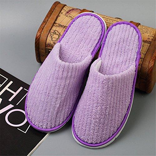 Pantofole Usa E Getta Per Gli Ospiti Chiusi Punta Pantofole Benessere Per Le Donne E Gli Uomini, Panno Morbido Di Corallo C