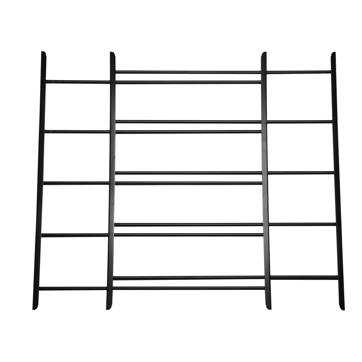 Knape & Vogt John Sterling Non-Opening Style 5-Bar Child Safety and Window Guard, Black, 1125-DB