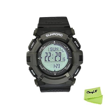 Deportes al aire libre hombres Digital Ckeyin tiempo reloj, altímetro, podómetro, barómetro,