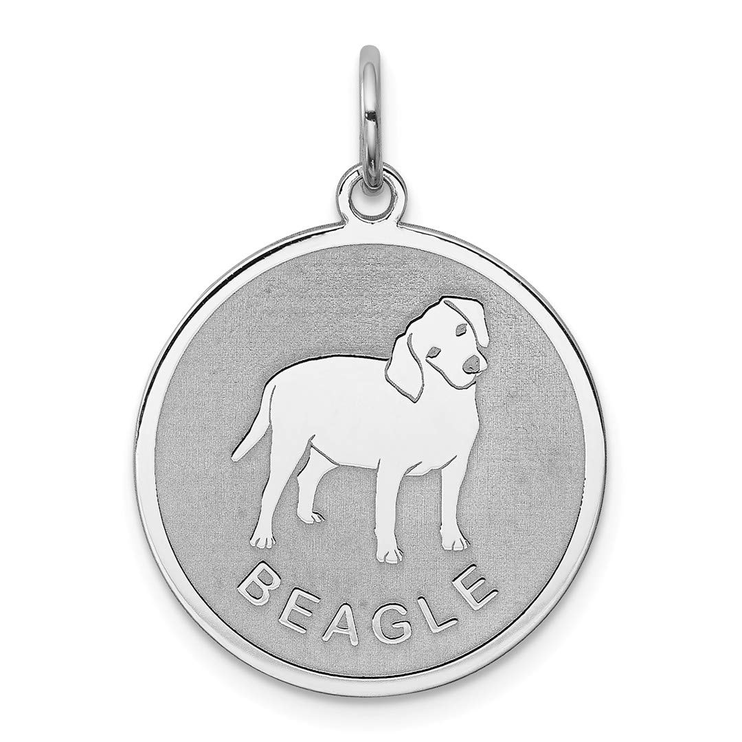 ICE CARATS 925 Sterling Silver Beagle Disc Pendant Charm Necklace Animal Dog Engravable Round Fine Jewelry Ideal Gifts For Women Gift Set From Heart