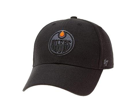 47 Brand con Marchio MVP Snapback - Edmonton Oilers - Cappello da Uomo NHL  Nero 624b94074ad3