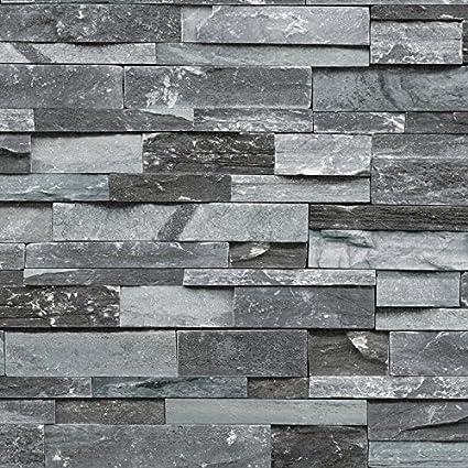 2261d23f94953 3D retro papel tapiz de ladrillo de piedra de imitación de mármol fondo de  ladrillo antiguo chino hotel de pared papel pintado de restaurante gris  Etiqueta ...