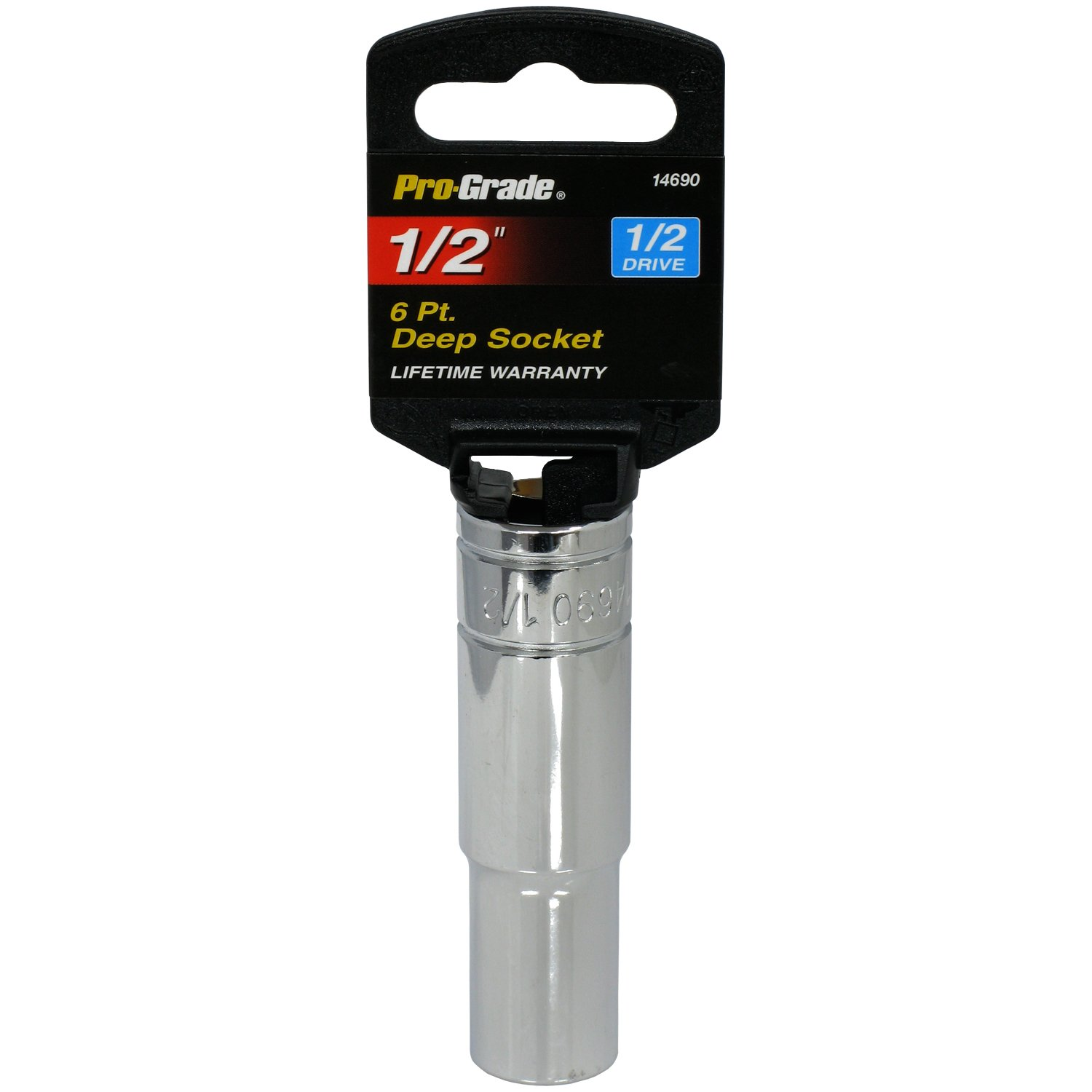 Pro-Grade 14672 1//2-Inch Drive with 6 Point Deep 15mm Impact Socket