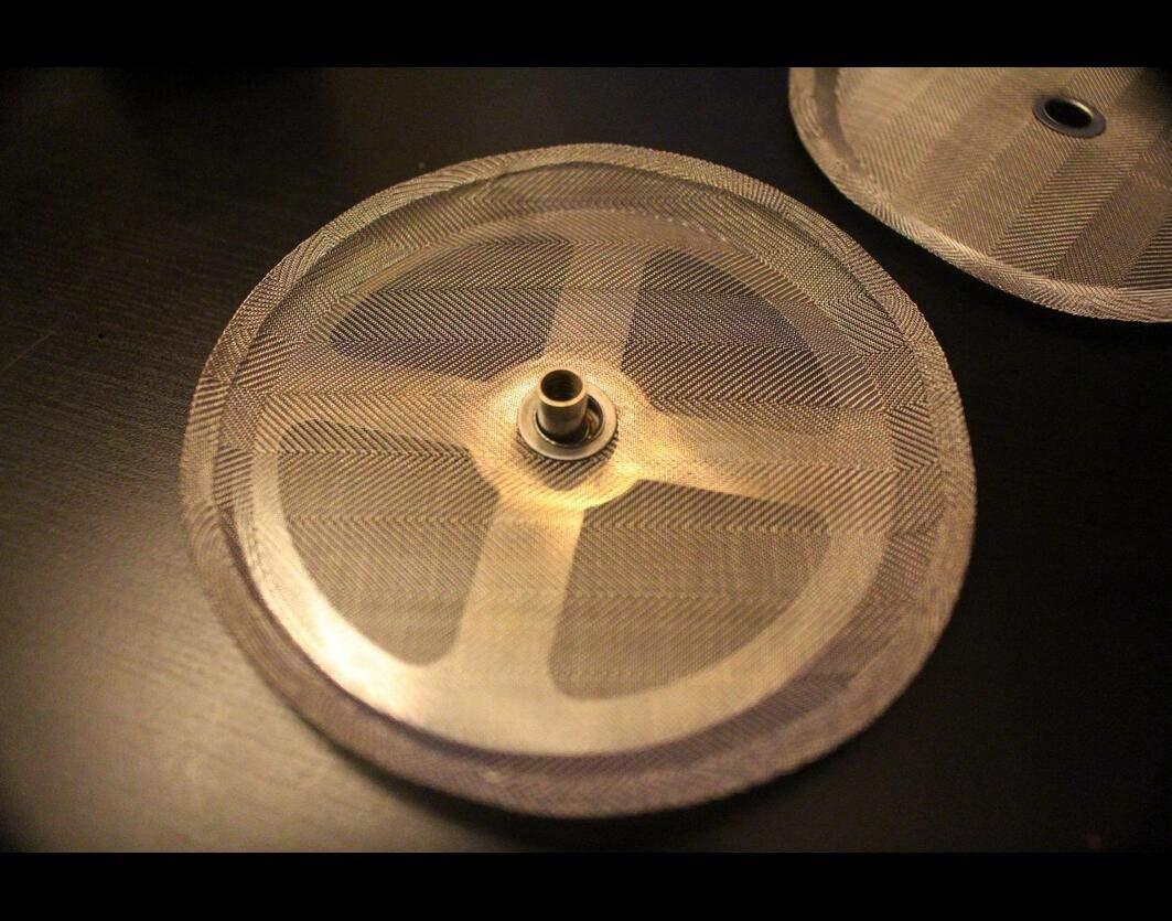 350 ml Filtro de repuesto para prensa francesa de caf/é de 2,6 pulgadas para cafetera Bodum French Press 2 piezas de malla de acero inoxidable 304 universal de 3 tazas
