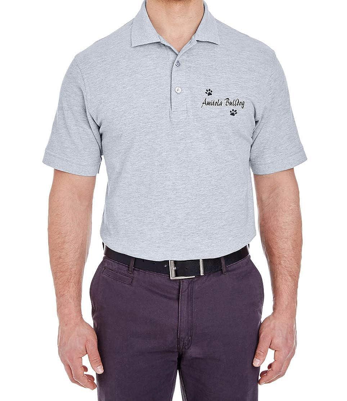 AMITOLA Bulldog Dog Paw Puppy Name Breed Polo Shirt Clothes Men Women
