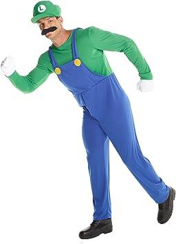 MORPH Disfraz de Super Luigi Adulto, Traje de Juego de Fontanero ...