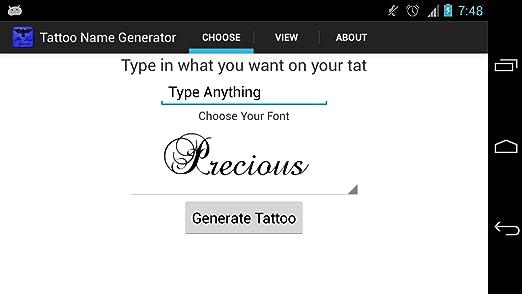Tattoo Name Generator