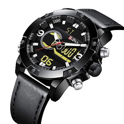 SW Watches Biden LED Relojes Deportivos para Hombres Relojes Digitales De Cuero De La Marca Reloj
