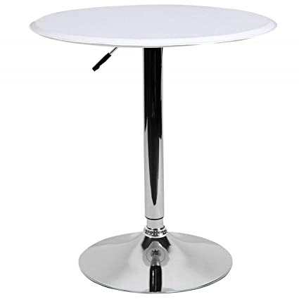 white home bar furniture. LCH 23.6\u0026quot; PU Top Adjustable Round Dining Bar Table Kitchen Home Furniture, White Furniture R