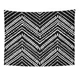 TOMPOP Tapestry Pattern Zigzag and Stripe Line for Tribal Black White Home Decor Wall Hanging for Living Room Bedroom Dorm 60x80 Inches