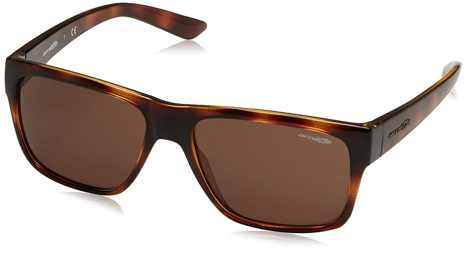 Arnette Men's Reserve Square Sunglasses, Dark Havana, 57 mm 0AN4226 MOD.4226SUN_237973-57