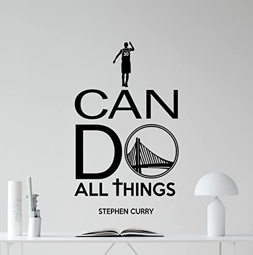 Amazoncom I Can Do All Things Stephen Curry Wall Decal Quote