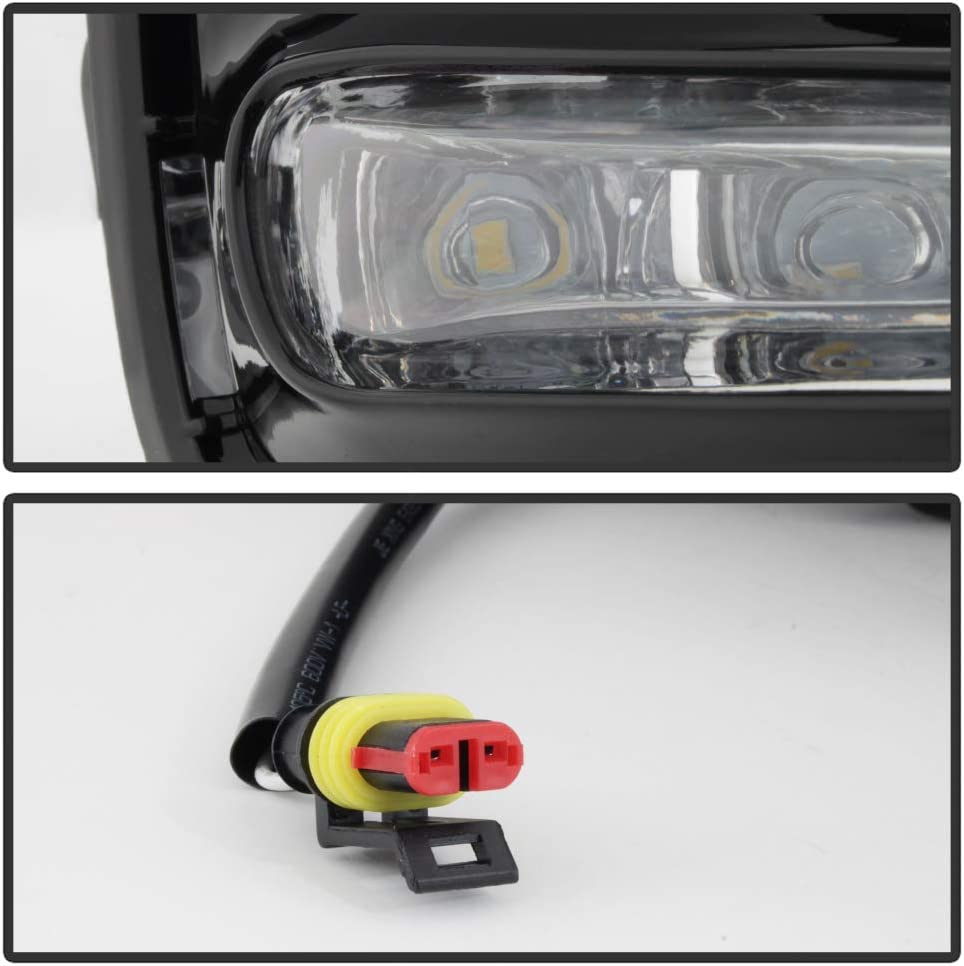 ACANII For 2017-2019 Toyota Corolla LED Bumper Fog Driving Lights w//Switch Assembly Driver /& Passenger Side