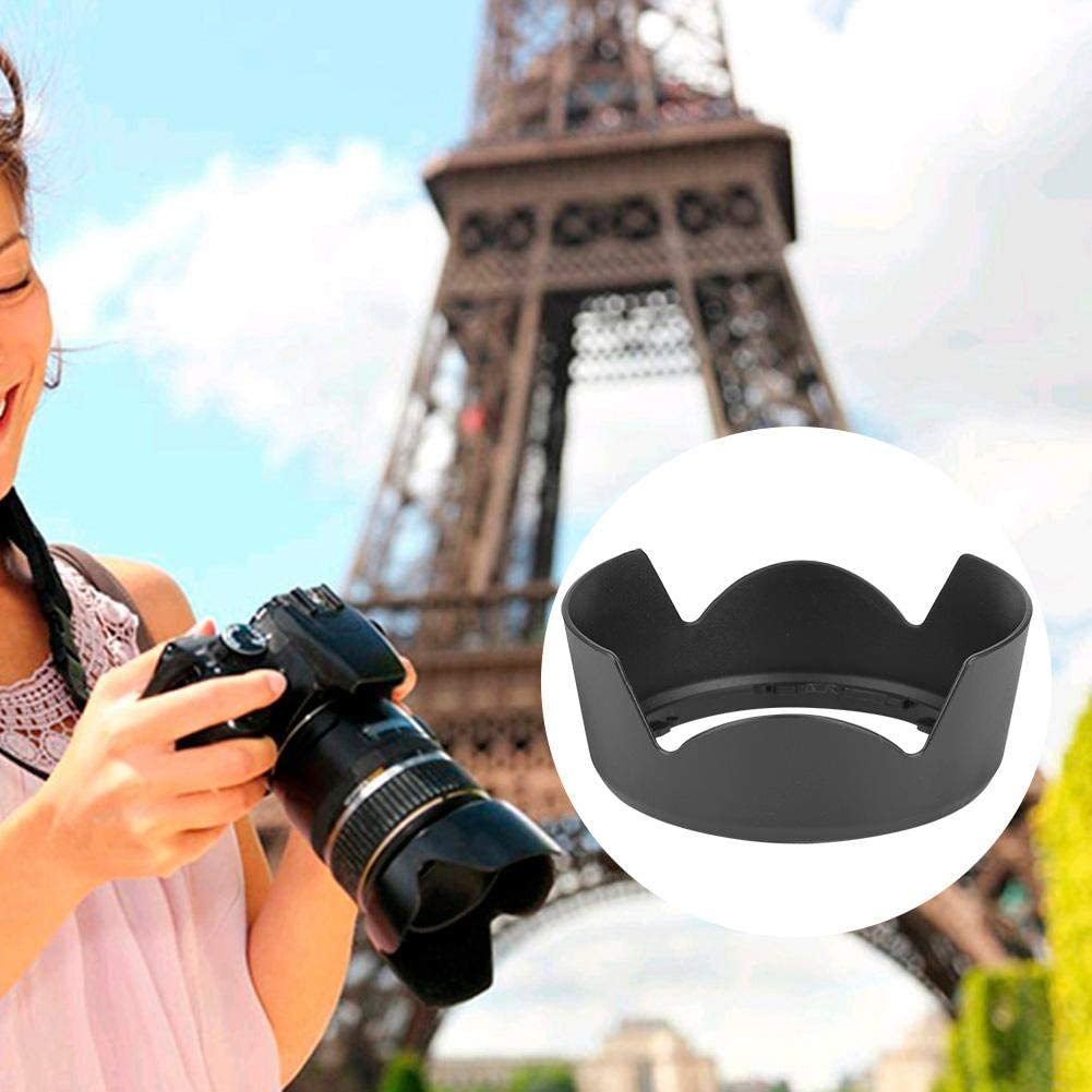 Bewinner HB-69 Lens Hood ABS Material Solid Durable Wear-Resistant Exquisite Workmanship Mount Lens Shade for AF-S DX18-55mm f//3.5-5.6G VR II Camera Lens