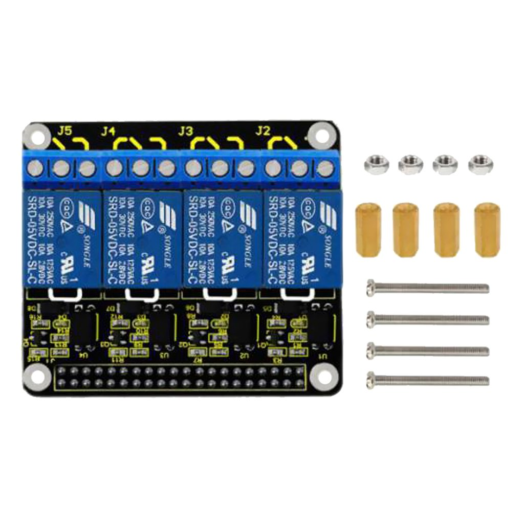 Baosity 5V Relay 4 Channel Relay Module Board Compatible With Raspberry Pi Model B