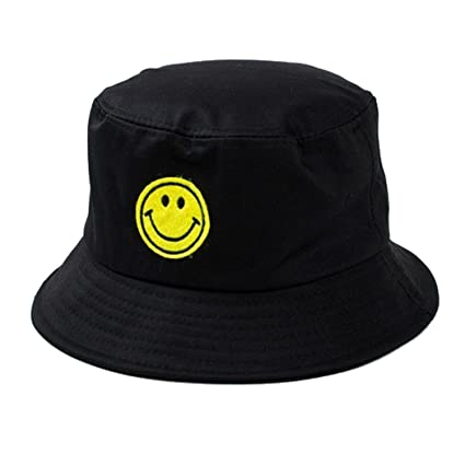Amazon.com   Mens Emoji Face Funny Expressions Bucket Hat (Yellow ... 3c5be47bf40