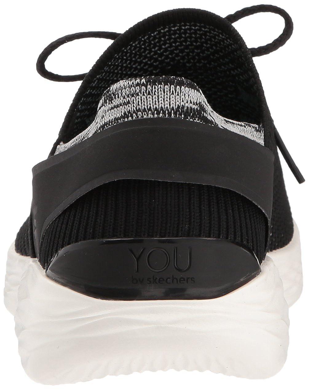 Skechers Damen You - Spirit Slip On Sneaker Schwarz (Black/White)