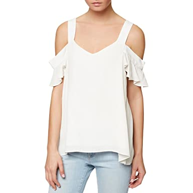 5c079747447 Sanctuary Womens Annie Off- The-Shoulder Textured Blouse White S at Amazon  Women's Clothing store: