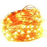LED String Light Copper Wire 100 LED 33ft Warm White Flexible Fairy Light Starry String Light for Party Wedding Birthday Christmas Thanksgiving Holiday Festival Patio Garden Home Decoration waterproof