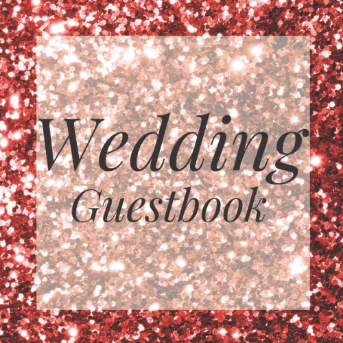 Photo Booth Frame Ideas (Wedding Guestbook: Rose Gold Glitter Sequin Event Signing Guest Book - Visitor Message w/ Photo Space Gift Log Tracker Recorder Organizer Address ... for Special Memories/Party Reception)
