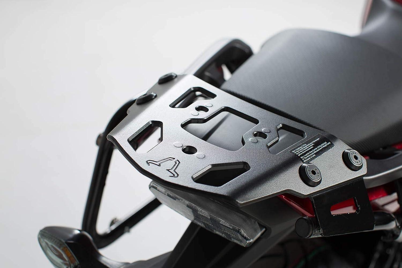 SW-MOTECH ALU-RACK Gep/äcktr/äger 16- Schwarz f/ür Honda NC 750X NC 750S