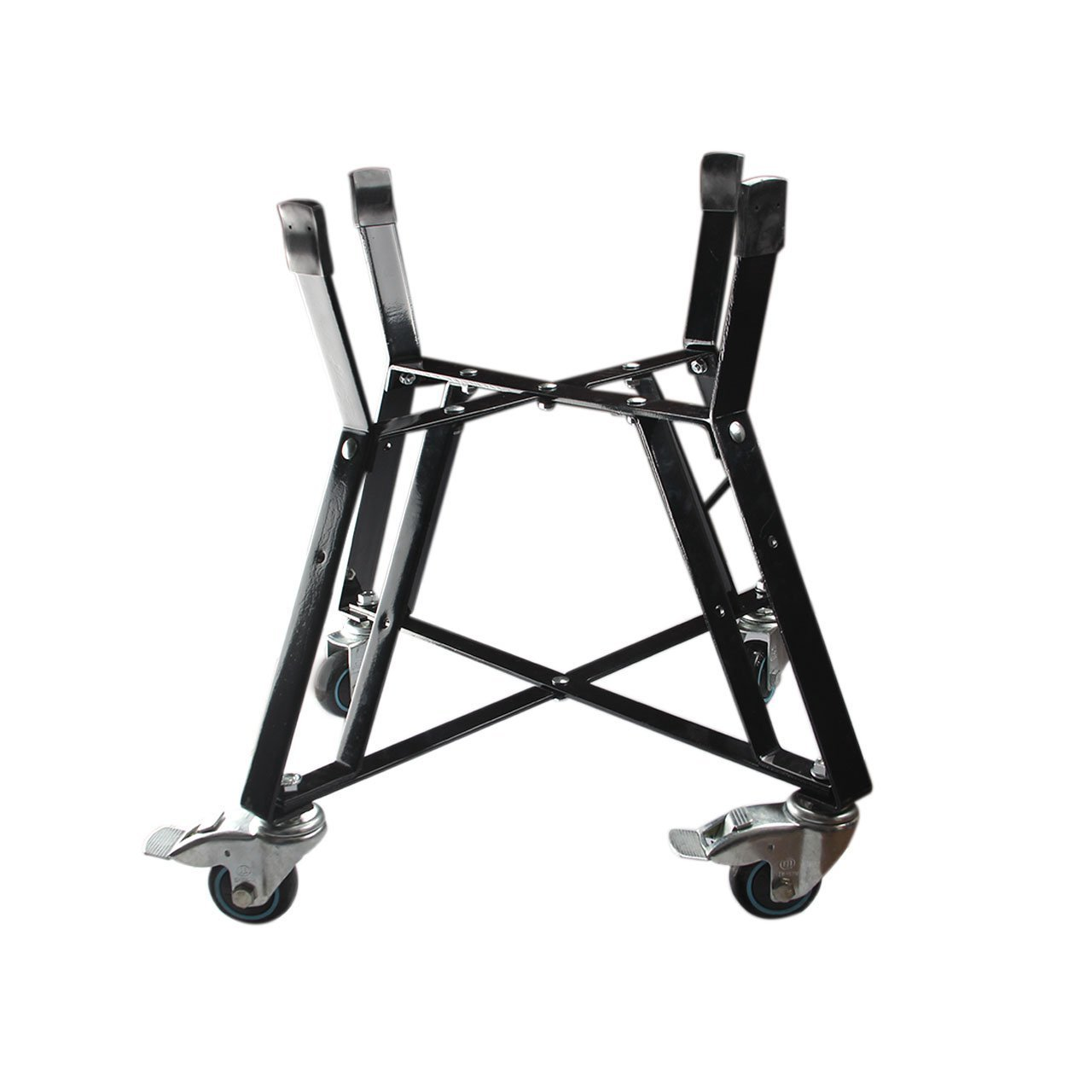 Rolling Cart Big Green Egg Accessories,BBQ Rolling Nest With Heavy Duty Locking Caster Wheels Powder Coated Steel Rolling Outdoor Cart For Large Big Green Egg Kamado Classic Joe Grill Stand Cooking
