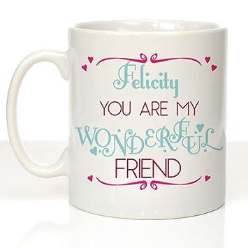 Amazon.com: Taza personalizada de amigo, mejor amigo regalo ...