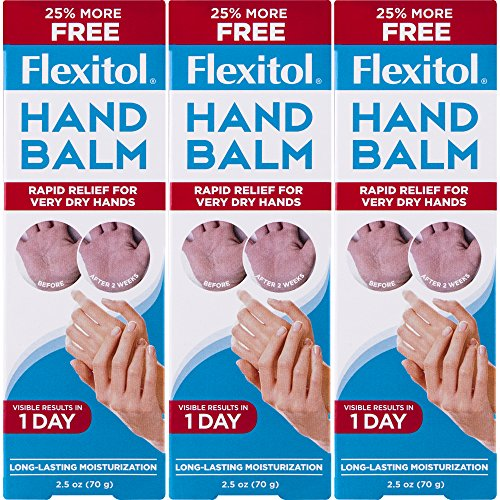 Flexitol Hand Balm for Fast Relief of Very Dry or Chapped Skin 3 Count Rich Moisturizing Hand Cream for Fast Relief of Very Dry or Chapped Skin, or Dryness Related to Eczema Psoriasis Dermatitis