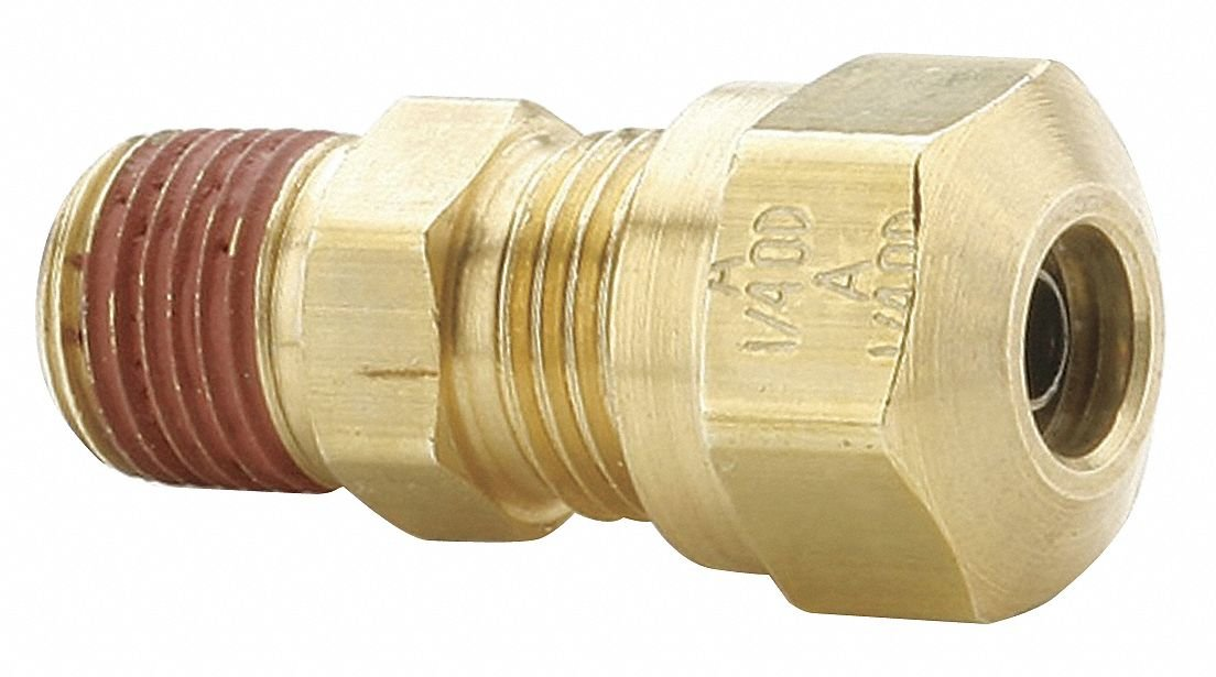 Parker Hannifin VS68NTA-12-8 Brass Air Brake-NTA Male Connector Fitting, 3/4'' Compression Tube x 1/2'' Male Thread