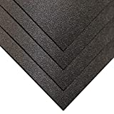 Online Plastic Supply ABS Sheet 1/16'' x 12'' x 12'' - Black, Haircell Textured (4 Pack)