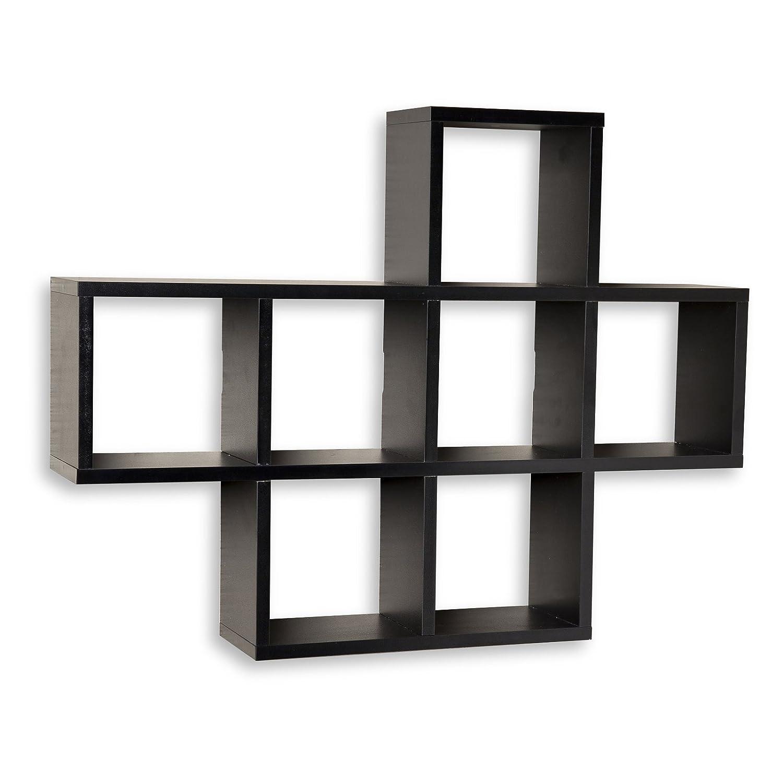 danya b cubby white laminate display wall shelf home