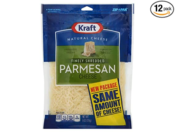 Kraft Zip Pak Natural Finely Shredded Parmesan Cheese 6 Ounce 12 Per Case Amazon Com Grocery Gourmet Food,Artichoke Plant