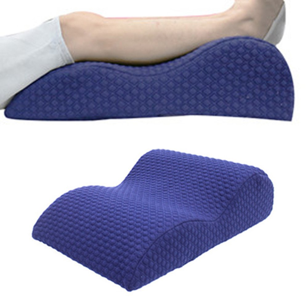 Toparchery Elevated Leg Rest Pillow, Memory Foam Top Knee Pillow with Removerable Cover for Sciatica Relief, Back Pain, Leg Pain, Pregnancy