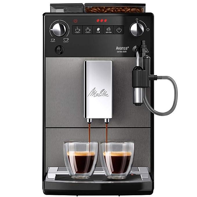 Melitta Avanza Series 600 F270-100, Cafetera Automática, Molinillo Incorporado Silencioso, Sistema de Leche Autocapuchinador Easy, Pantalla LED, Aroma ...