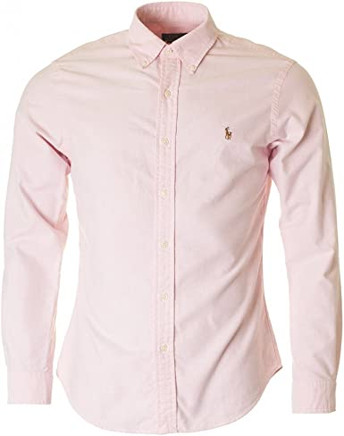 Polo Ralph Lauren Slim FT BD PPC BSR Camisa Casual, Rosa (Pink ...