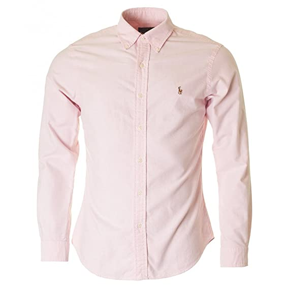 Polo Ralph Lauren Slim Ft BD Ppc BSR Pink, Camisa Casual para ...