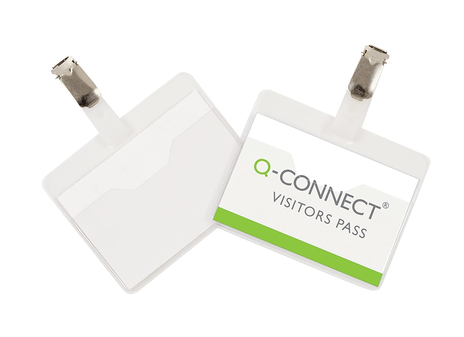 Q-Connect KF01560 Visitor Badge 60x90mm (Pack of 25)