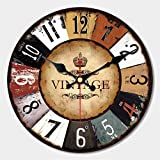 MEISTAR 12 Inch Wall Clock Silent Non Ticking Wall Clocks Large Decorative Quality Quartz Movement Decorated Living room, Kitchen
