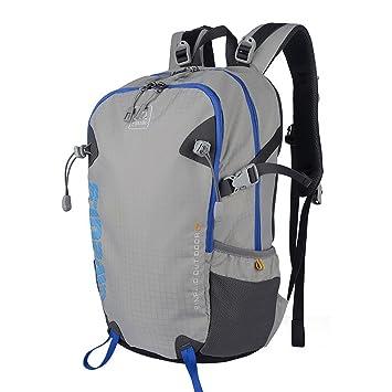 XSY 35L Mochilas Senderismo Mujer y Hombres Mochila Deportes Alpinismo Impermeable para Aire Libre Escalada Acampa Gris: Amazon.es: Equipaje