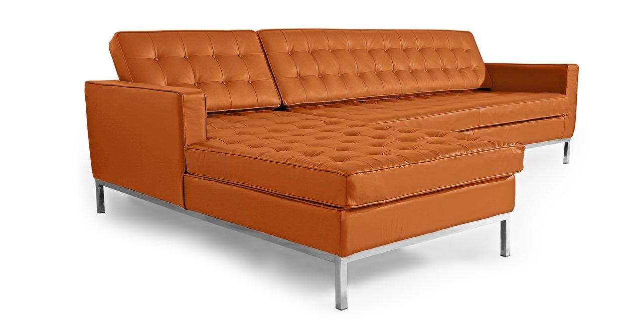 Amazon.com: kardiel Florence Knoll style sofá seccional ...