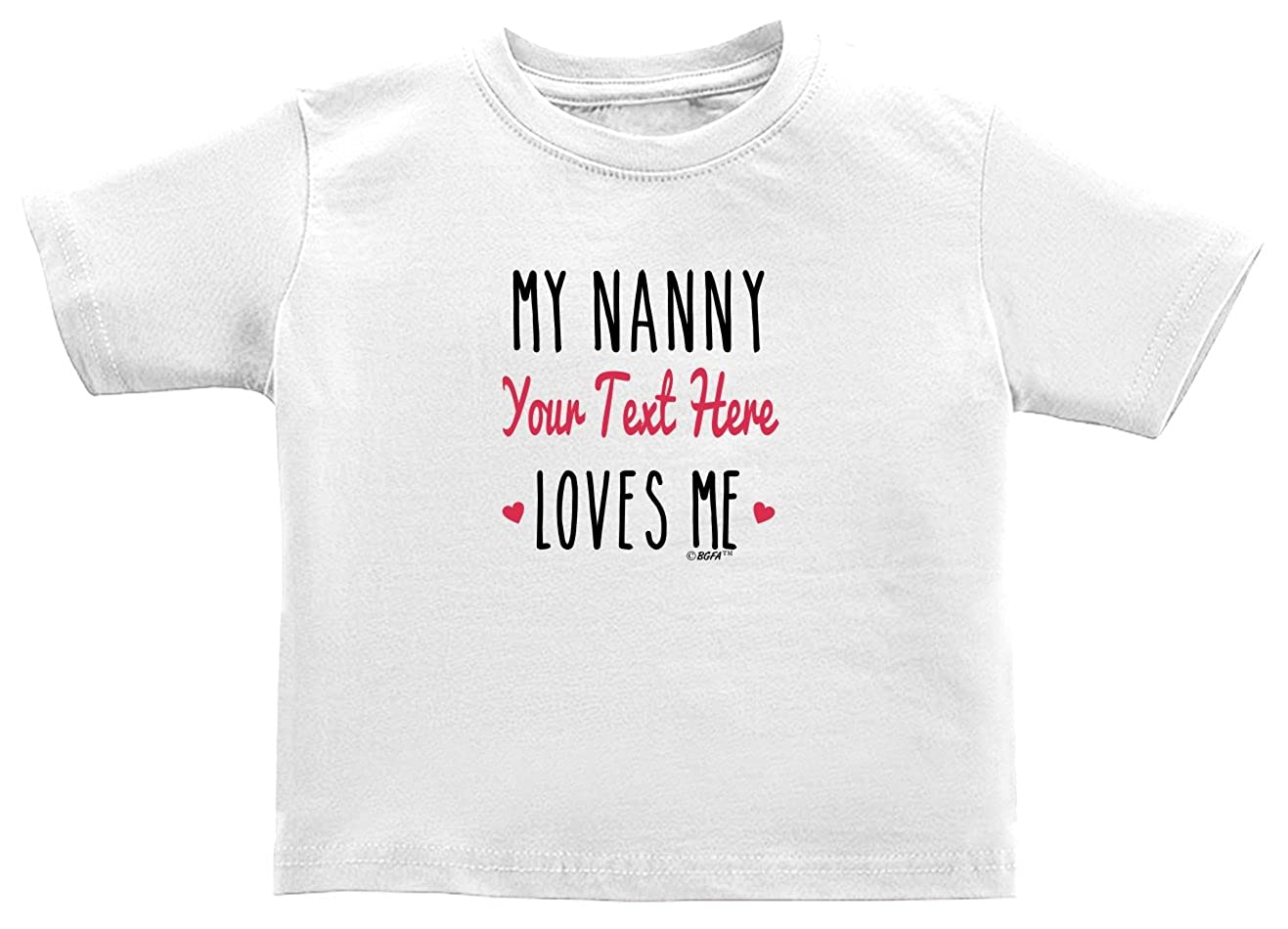 Baby Gifts For All Personalized Grandma Gift My Nanny Loves Me Toddler Juvy T-Shirt