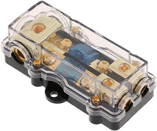 Ienpajnepqn Auto Stereo Audio Inline Sicherungshalter Verteilerblock 4 6 8 Spur Out Küche Haushalt