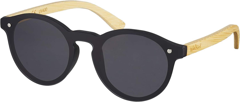 Nebelkind Unisex Runde Kunststoff/Bambus Sonnenbrille mit Bambus Etui Grau One Size: Amazon.de: Bekleidung - Sonnenbrillen 2020