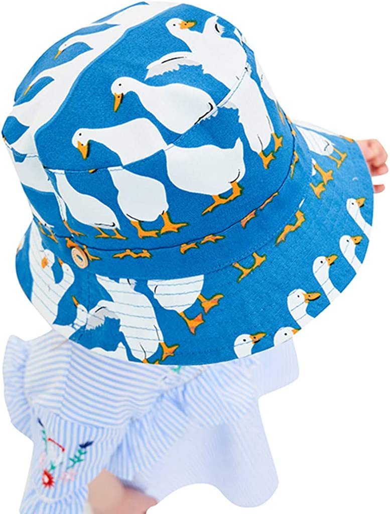 Toddler Baby Bucket Hat,Zerototens Kids Boys Girls Cartoon Duck Printed Sun Protection Breathable Sun Hat Children Fisherman Hat,Holidays and Outdoors