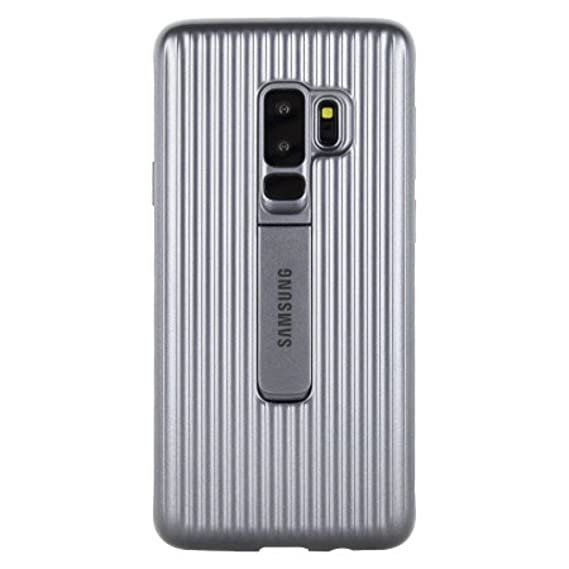 low priced 14ded 48645 Official OEM Samsung Galaxy S9+ Military Protective Standing Cover (Silver)